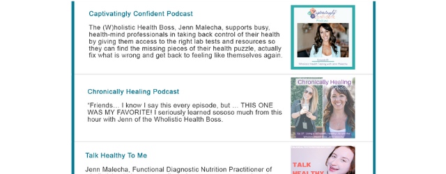 WHB-Podcasts Adrenal Fatigue Leaky gut Thyroid Jenn Malecha