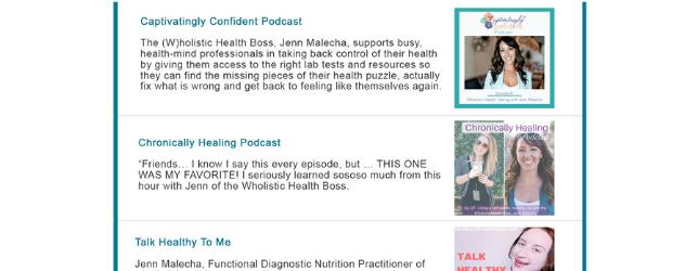 WHB-Podcasts Adrenal Fatigue Leaky gut Thyroid Jenn Malecha