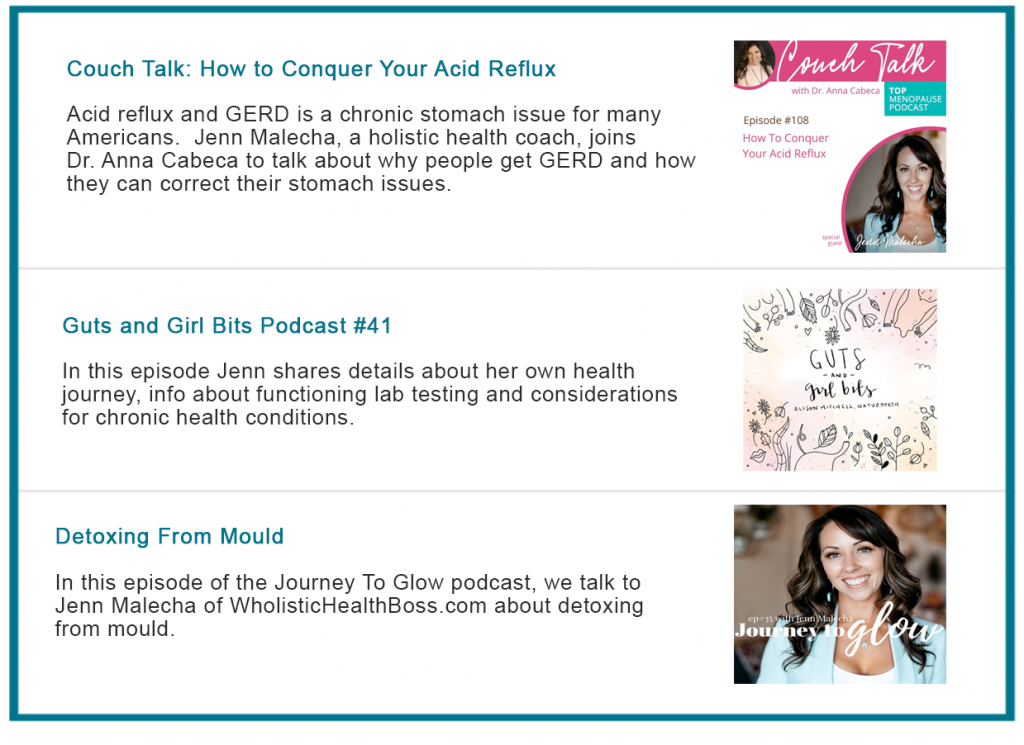 Wholistic Health Boss Podcasts Adrenal Fatigue Leaky gut Thyroid Jenn Malecha