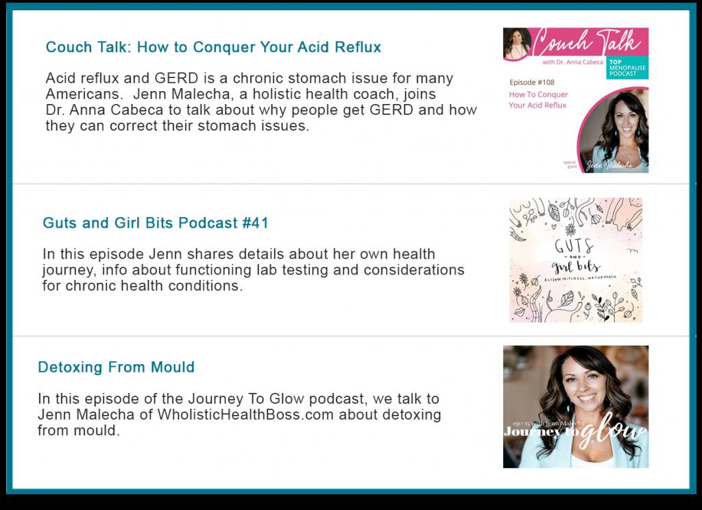 Wholistic Health Boss Podcasts Adrenal Fatigue Leaky gut Thyroid Jenn Malecha
