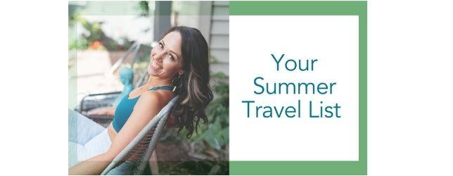 Summer Travel List - Adrenal Fatigue Leaky gut Thyroid Jenn Malecha
